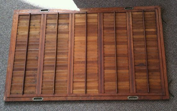 Vintage plantation interior solid wood window blinds shutters - Unfinished interior wood shutters ...
