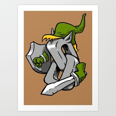 Link Art Print by Billy Allison - $14.56  (and its on a  shirt too!): Link Art, Art Prints