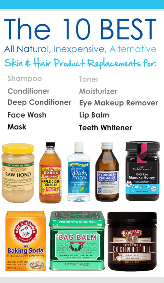 The 10 Best All Natural, Inexpensive, Skin  Hair Product Replacements for shampoo, conditioner, deep conditioner, face wash, mask, toner, moisturizer, eye makeup remover, lip balm, and teeth whitener