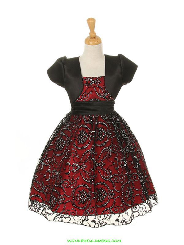 Red And Black Flower Dress Www Wonderfuldress