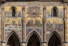 Last Judgment - The Last Judgment mosaic (14th-century), Saint Vitus Cathedral, Prague, Czech Republic..