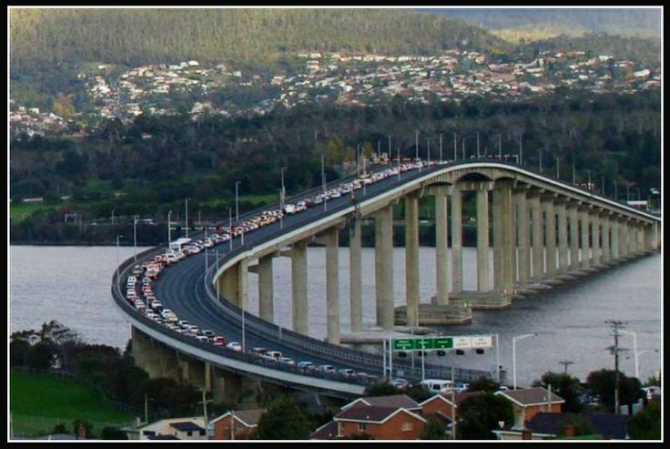 Tasman Bridge Tasmania   Australia