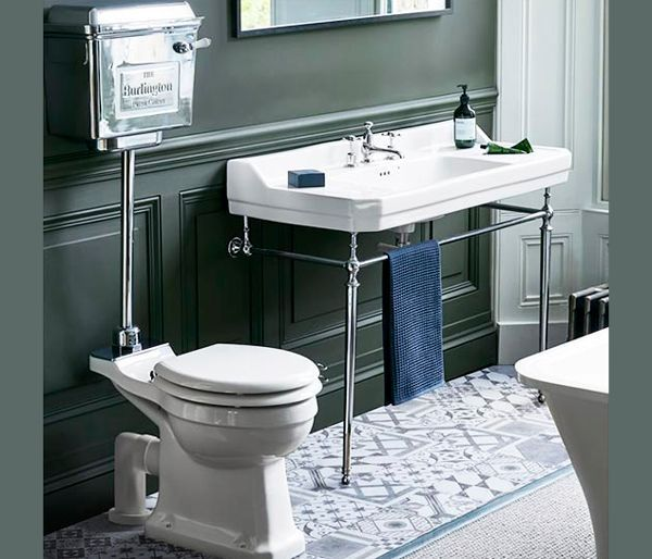 Bathroom Burlington Traditional Basin Stand Low Level Wc With Aluminium Cistern Traditional Toilets Traditional Bathroom Low Level Toilet