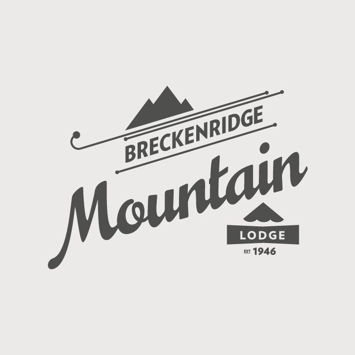 Breckenridge Ski Resort: Logo Explorations via Stopbreathing//I like the little lodge part