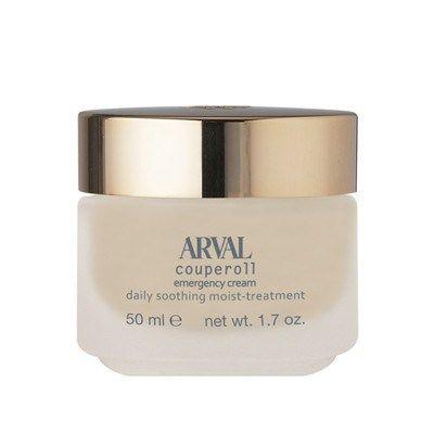 Arval Emergency Cream, una barriera protettiva per riparare gli inestetismi legati alla couperose. I suoi principi attivi sono composti da fitoestratti di camomilla e iperico che hanno un'azione lenitiva e addolcente, da polvere di seta che idrata e rende morbida ed elastica la pelle e da microperle di UV riflettenti che proteggono dai raggi UV. Consigliata per un trattamento giorno/notte per pelli mature si applica e si distribuisce in modo uniforme con movimenti circolari delle dita.