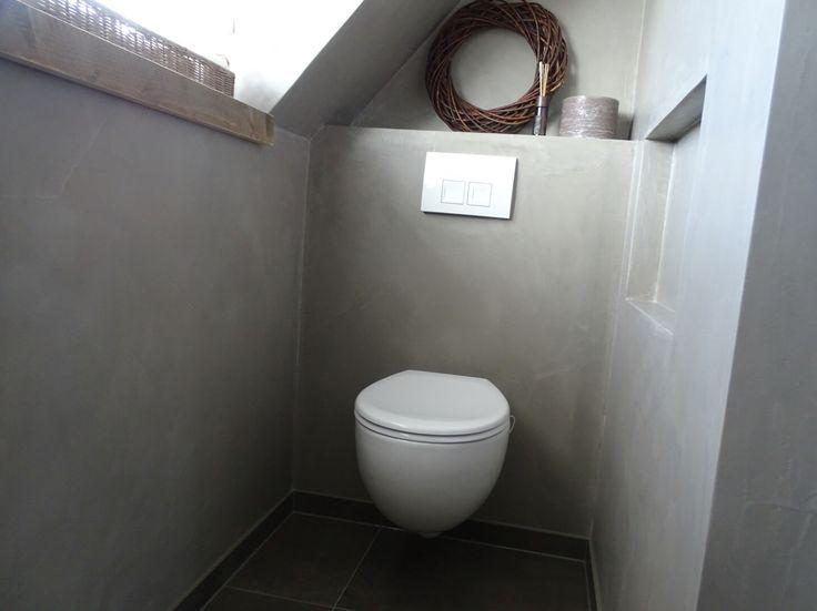#toilet #betonstuc #steigerhout #badkamer