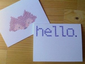 Customizable Cross Stitch Card Tutorial