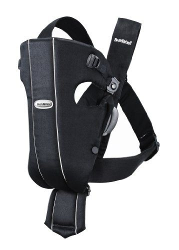 BABYBJORN Baby Carrier Original, Black, Cotton. For product info go to:  https://all4hiking.com/products/babybjorn-baby-carrier-original-black-cotton/