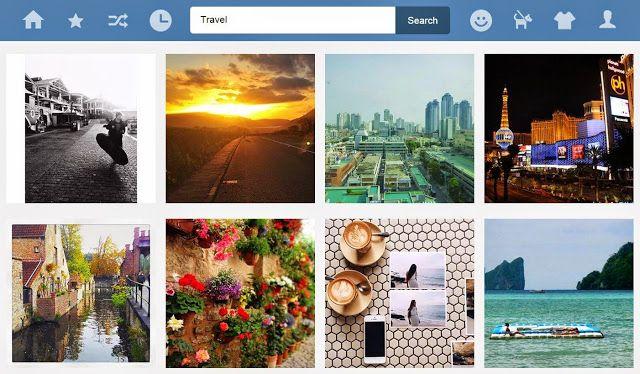 Quick links to popular websites like Facebook  Twitter , Youtube , Tumblr , Pinterest , Vimeo ...