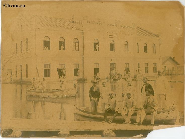 """Clădirea Arsenalului Marinei, Galati, Romania, anul 1910.  Imagine din colecţiile Bibliotecii Jedeţene """"V.A. Urechia"""" Galaţi."""