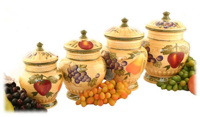 tuscan kitchen canisters tuscan collection deluxe 4 canister set tuscan 15237