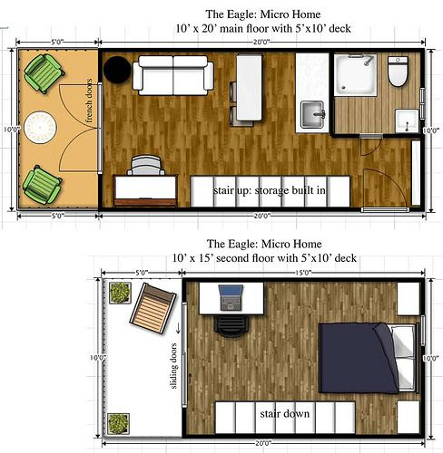 17 best images about rv wagon tiny home floor plans on for Small house plans that live large