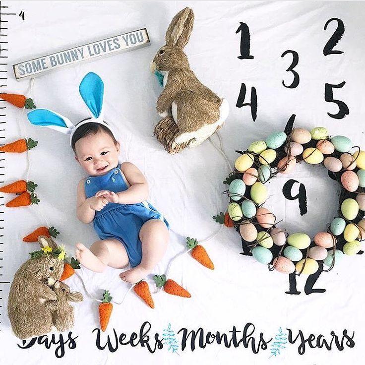 Age baby blanket milestone blanket growth chart baby gift   – Milestone pics
