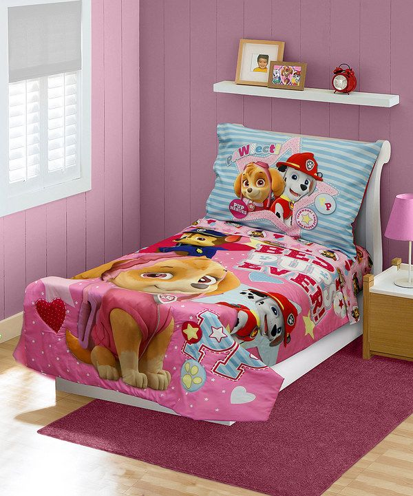 Look at this Pink PAW Patrol Toddler Bedding Set on #zulily today!