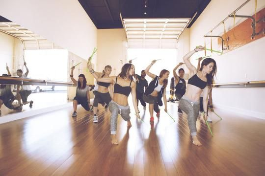 The Pound group fitness class combines Pilates, cardio, and conditioning.Instructors say you can burn up to 400 to 900 calories.