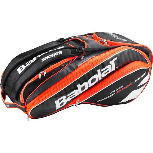 Babolat Pure Strike Racket Holder X12 Schlägertasche - Schwarz, Neonrot für 69,90  € bei Tennis-Peters ☆ Tennistaschen ☆ Schneller Versand ☆ 30 Tage Geld-Zurück-Garantie