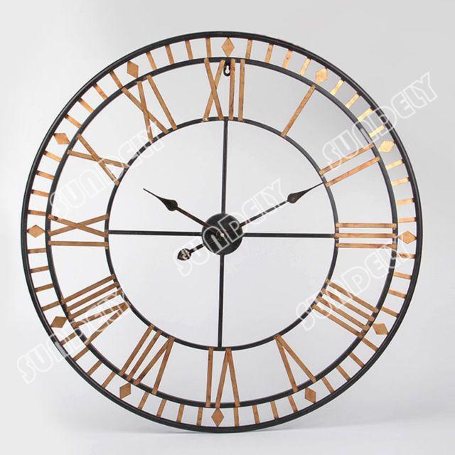 large wall clock 80cm bertha metal industrial big vintage french provincial new