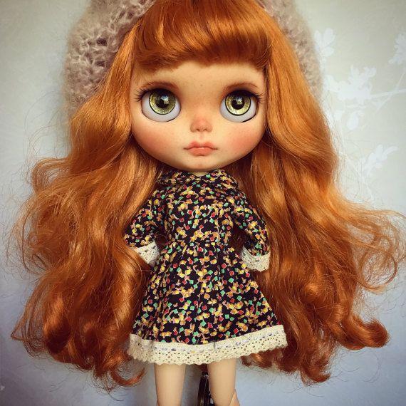 Custom Blythe umění Doll od Blythe & Shine!  OOAK.  Zrzavé vlasy.
