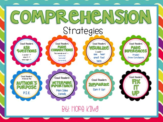 25 Best Ideas about Reading Comprehension Strategies on Pinterest