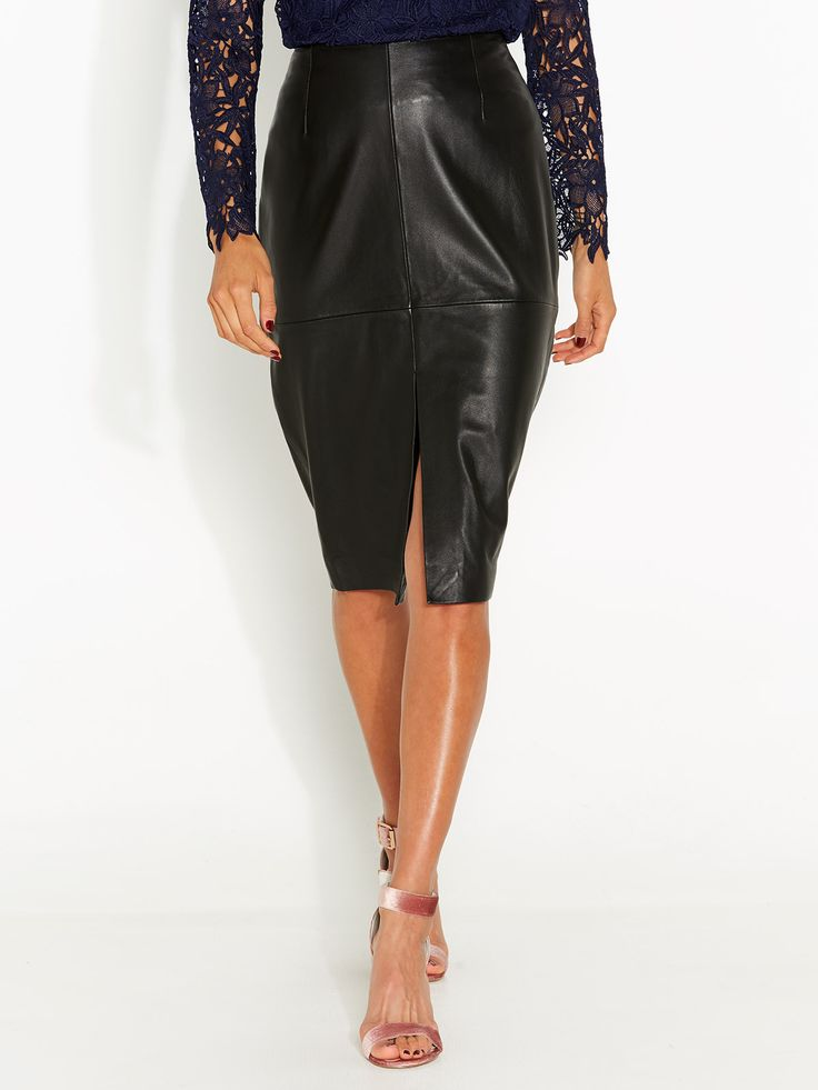Look My Way Leather Skirt | Portmans