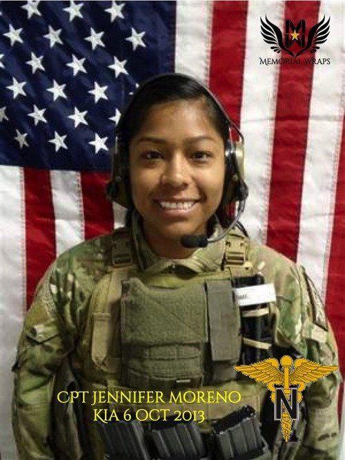 CPT Jennifer Moreno - Army Nurse Corps Memorial Wrap