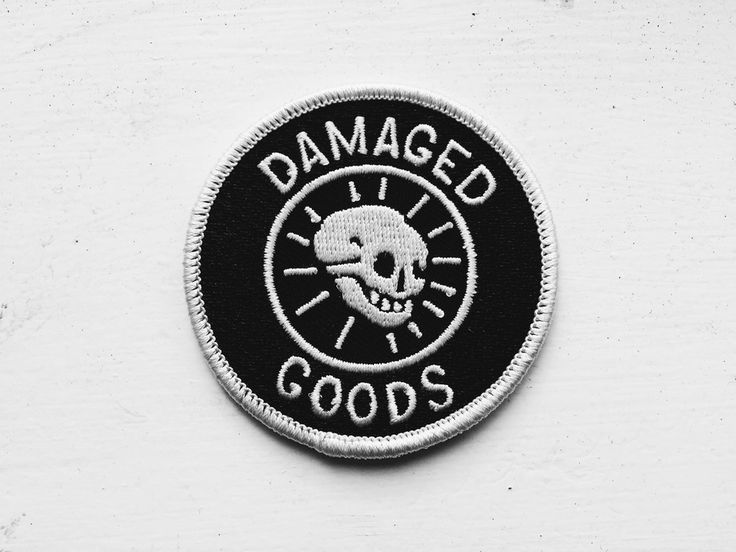 Image of 'Damaged Goods' embroidered patch