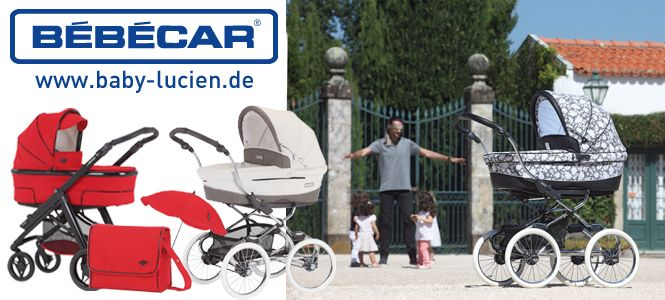 Besondere Kinderwagen und Zubehör von Bébécar im Online Shop Baby-Lucien Link