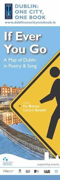 """Dublin City Council Banners for Dublin: One City, One Book 2014 - """"If You Ever Go"""" A Map of Dublin in Poetry and Song -- #civicmedia2014 #IrishBooks"""