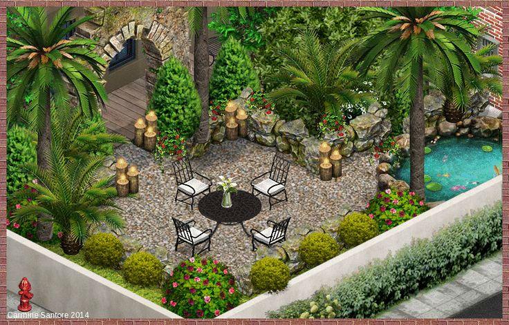 Soho Nyc Backyard Garden My Yoville Yoworld Pinterest