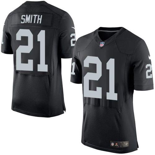 $24.99 Men's Nike Oakland Raiders #21 Sean Smith Elite Black Team Color NFL Jersey