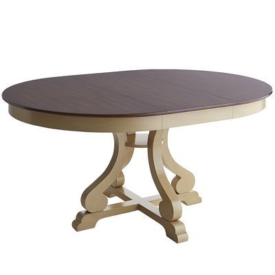 New dining room table in Antique Ivory for the meal @DinnerbyDesign