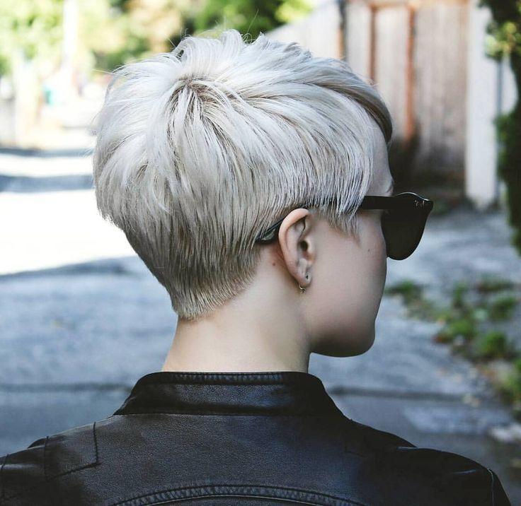 Sieht sauber aus für diejenigen, die den Rücken sehen wollen, schau in meinem Blog nach mehr www.stylewithsara … –  – #Kurzhaarfrisuren