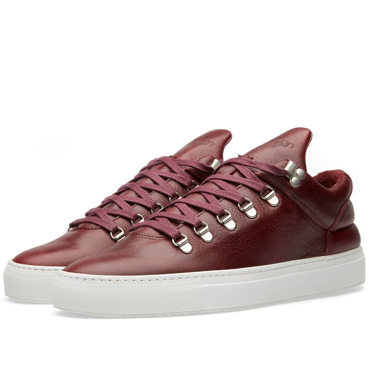 Filling Pieces Mountain Cut Sneaker (Red Horsche Leather)