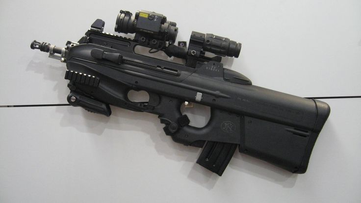 FN F2000 5.56 assault rifle with ACOG and and range extender