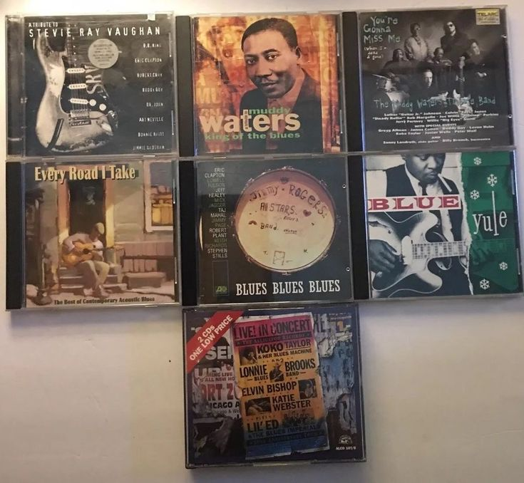 Blues CDs LOT of 7 Cds Tributes and All Stars - Stevie Ray- Muddy-Jimmy Rodgers #BluesRock