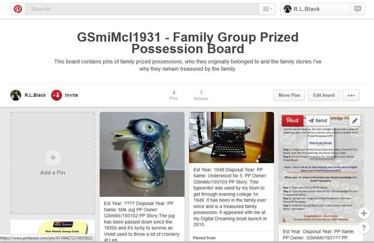 How to use Pinterest to keep family stories about prized possessions