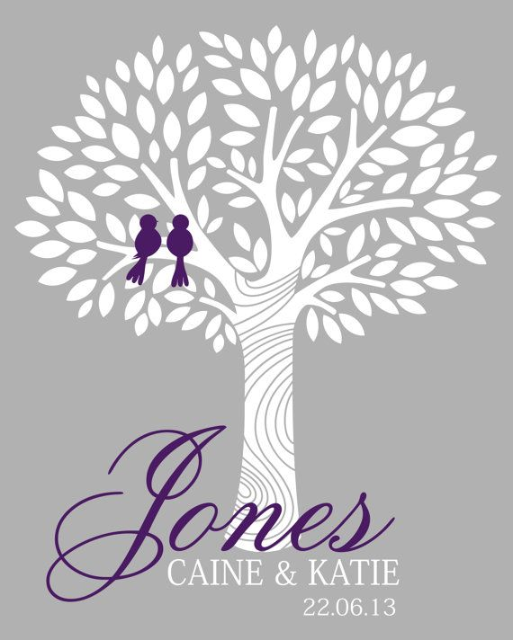 All our trees come printed on heavy archival paper that will not fade for 100 years. They are fully customizable with your colors , names and date....yes you can add a quote if you want, we truly wantto make it a one of a kind item for your wedding. yes you can have owls instead of birds or vice versa. always order with a few leafs extra so your tree doesnt look crowded , and remember lots of couples sign together when counting how many leafs you needs  We suggest a fine tip sharpie is…