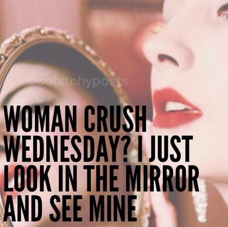 Funny woman crush Wednesday quote
