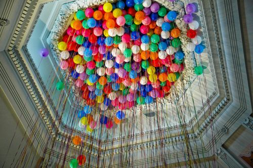 up up up ....: Helium Balloon, Birthday Parties, Theme Parties, Rainbows Colors, 10Th Birthday, High Ceilings, Theme Wedding, Parties Ideas, Balloons