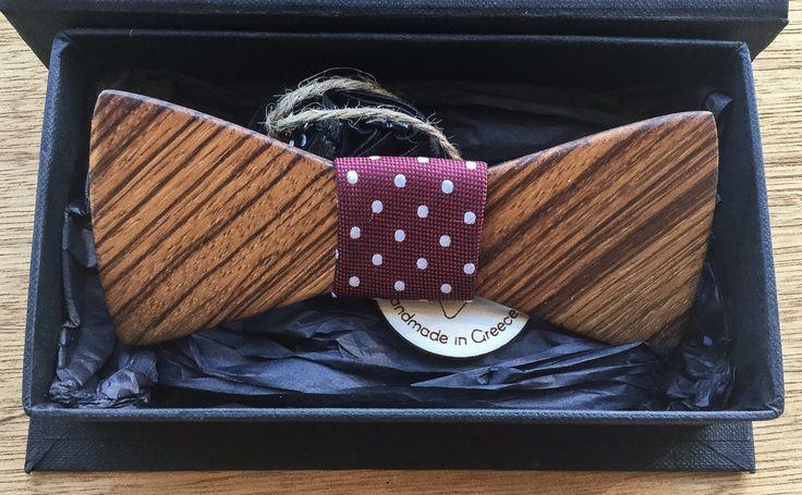 Wooden Bow Tie Zebra wood