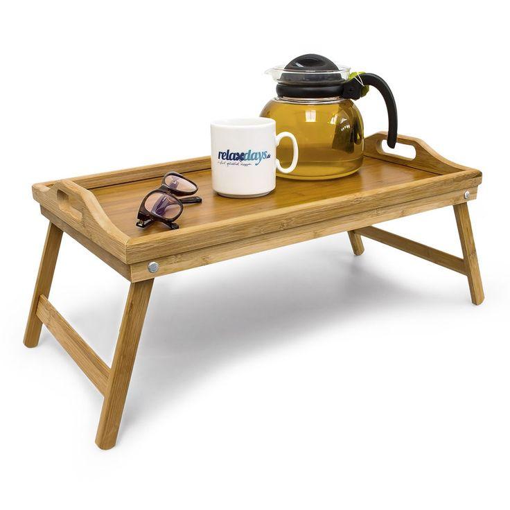 Bambus Betttablett Frühstückstablett Serviertablett klappbar Bett Tisch Tablett