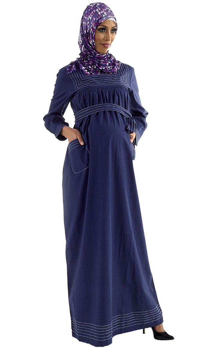 Dahlia Cotton Maternity Abaya - Price: $29.99 - Sku ID : AJM10