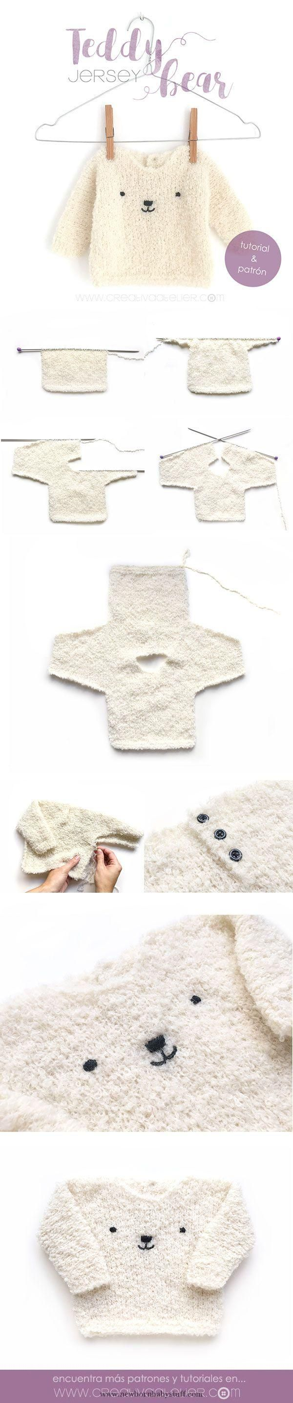 Baby Knitting Patterns Jersey de bebé de punto – Teddy Baby...
