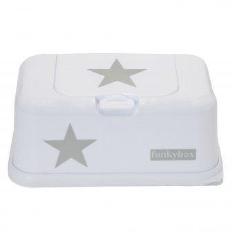 Feuchttücherbox | Funkybox weiß mit Stern