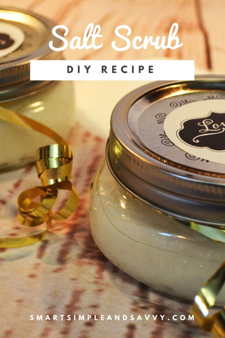 How to make an exfoliating salt body scrub In under ten minutes you can craft a vast quantity of spa-like salt scrub for less than the price of my favorite coffee. Now the formula for success. One cup salt mixed with one cup coconut oil. Then, four drops of essential oils, but you can decide how much based on your preference for scent…