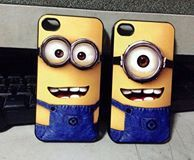 Minion phone cases - we sold a pair like these the other day, a girl created them for her and her best friend!