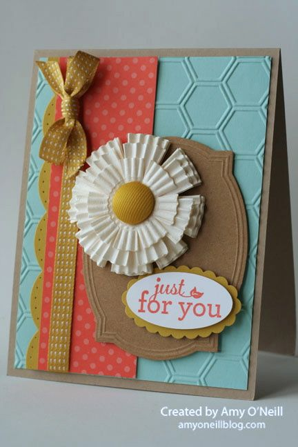 muffin cup flower card