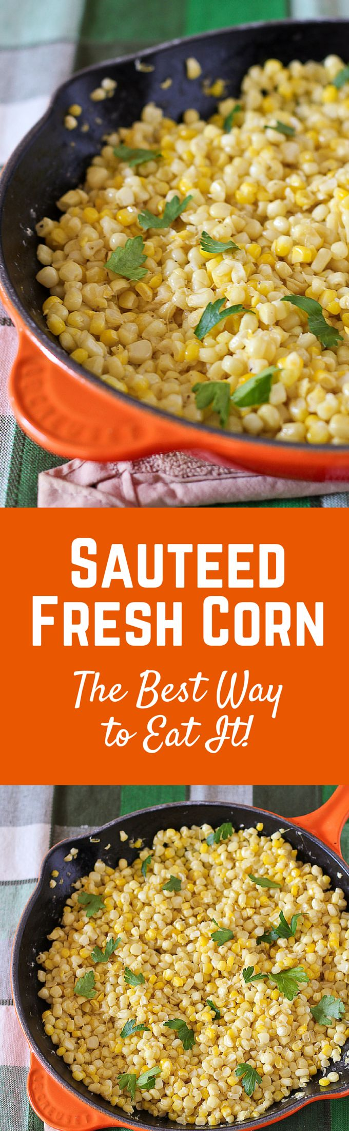 This sauteed fresh corn recipe is an easy and delicious side dish - everyone who has tasted it says it's their new favorite way to eat corn! Get the easy recipe on RachelCooks.com!
