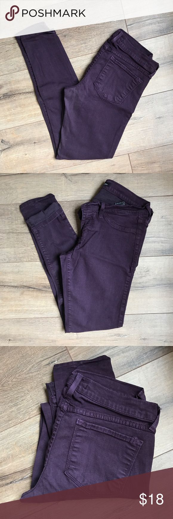 Apricot Lane Dark Purple Jeans These purple skinny jeans go great with many things!! They're stretchy and I loved having a fun color in my wardrobe! Flying Monkey Jeans Skinny