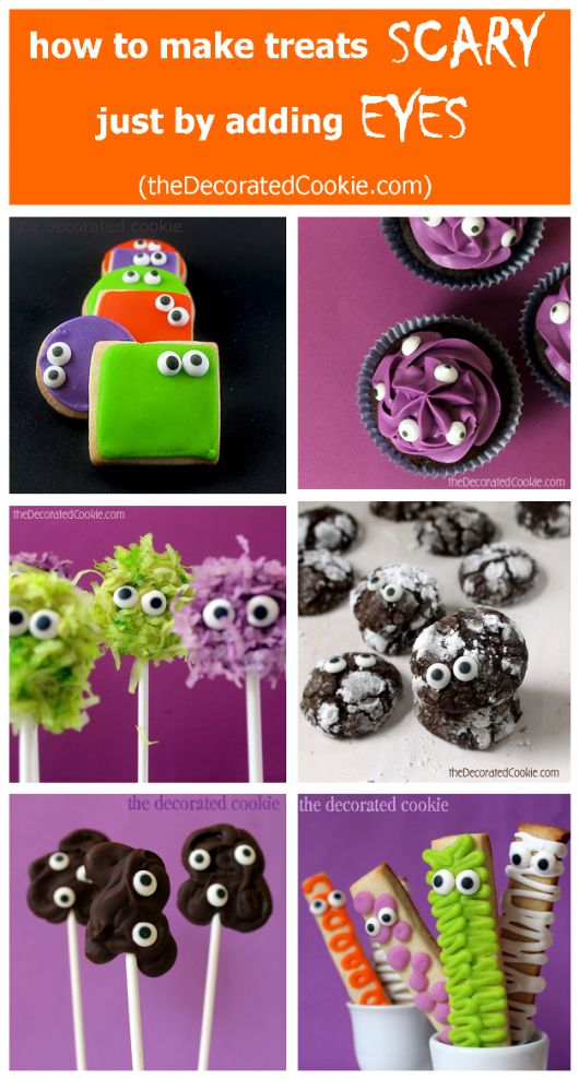 Need a quick Halloween treat? Just add candy eyes!